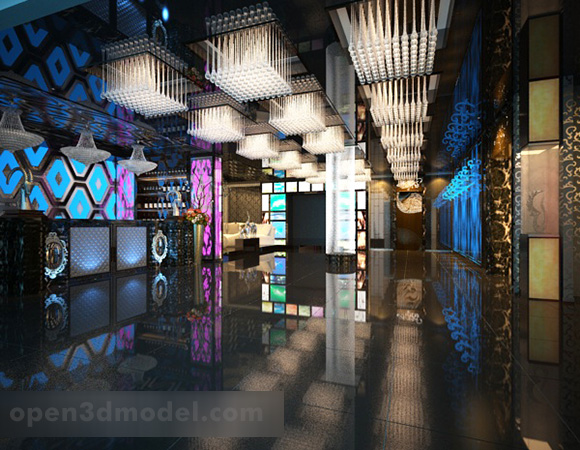 Modern Karaoke Bar Hall Interior