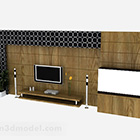 Modern Wood Tv Background Wall