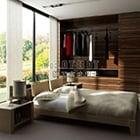 Modern Bedroom Big Window Interior