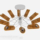 Okrągły żyrandol do nowoczesnego salonu