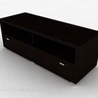 モダンな木製の短いテレビキャビネット