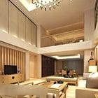 Modern duplex woonkamer interieur
