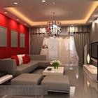 Interno grigio del salone di tono moderno