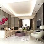 Modern Living Room Hanging Painting Interior