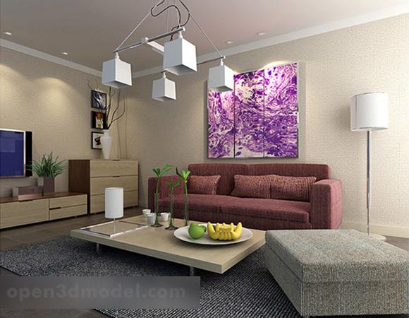Modern Living Room Furniture Design Interior V1