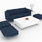 الحد الأدنى مجموعة أريكة زرقاء