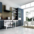 Modern minimalistisch keukeninterieur