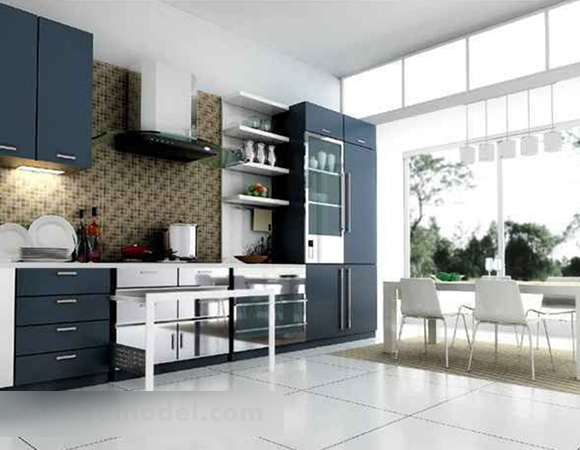 Modern Minimalist Kitchen Interior