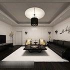Modern minimalist oturma odası iç V15