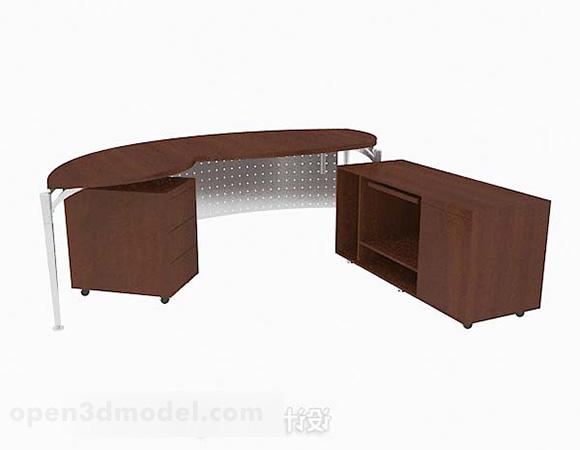 Modern Minimalist Wooden Office Desk Free 3d Model Max Open3dmodel 347291