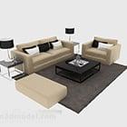 Moderner Sofakombinations-Couchtisch