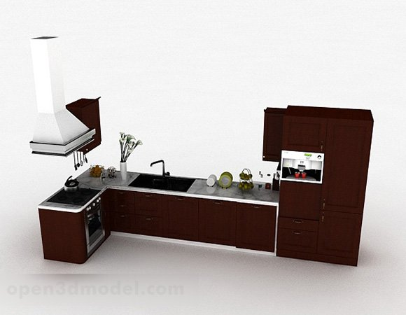 Modern Kitchen L Shaped Cabinet Free 3d Model Max Open3dmodel 329897