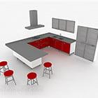 تصميم المطبخ الحديثة على شكل حرف U