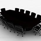 كرسي طاولة المؤتمر اللون الأسود