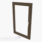 Modern Brown Single Door Sliding Window