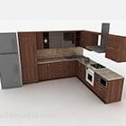 Modern Stylish L Shaped Kitchen Cabinet