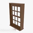 Modern Brown Wooden Sliding Window