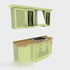 Modernt grönt kökskåp