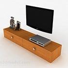 Mobile TV in stile moderno con venatura del legno