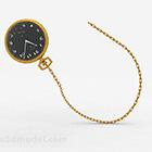 Moderno orologio da tasca in oro