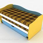 سرير مخطط متعدد الألوان حديث