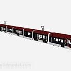 City Red Train Vehicle