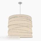 モダンなスタイルの白い円筒形シャンデリア