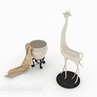 Ornamento moderno bianco della giraffa