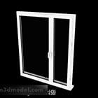 Modern Style White Sliding Window