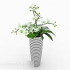Vaso da fiori bianco stile moderno