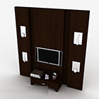 Modern Wooden Atmospheric Tv Background Wall