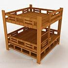 Moderní dřevěná manželská postel