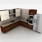 Modernt snyggt L-kökdesignskåp