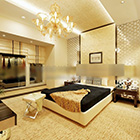 Modern Hotel Stylish Bedroom Interior