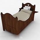 Nowoczesne stylowe brązowe łóżko pojedyncze dla dzieci