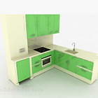 Modernt snyggt grönt kökdesignskåp