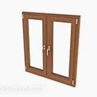 Nowoczesne drewniane podwójne okno skrzydłowe