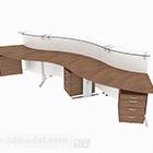 مكتب خشبي حديث بسيط متعدد الأشخاص