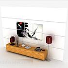 Mobile TV moderno a righe in legno