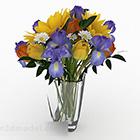 متعدد الألوان زهرة نبات داخلي زهرية