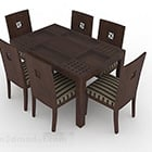 Asian Style Wood Table And Chair