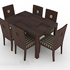 Meja dan Kerusi Kayu Gaya Asia