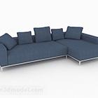 الشمال نمط الأزرق متعدد المقاعد أريكة الأثاث