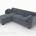 أثاث أريكة متعددة المقاعد باللون الرمادي الشمالي البسيط