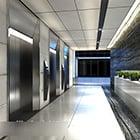 Office Area Elevator Corridor Interior