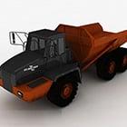 Orange Bulldozer Fahrzeug
