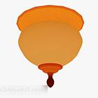 مصباح السقف الصيني الظل البرتقالي