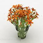 Orange Flower Furniture Vase