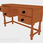 مكتب برتقالي خشبي