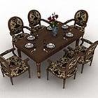 Klassisk matbordstolsuppsättning